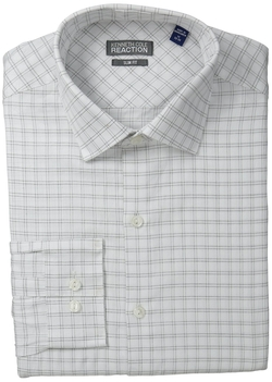 Kenneth Cole Reaction - Slim Fit Textured Check Shirt