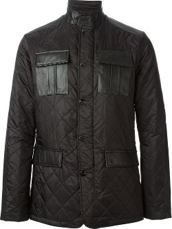 Michael Kors  - Sheepskin Detail Quilted Jacket