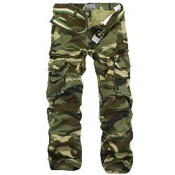 Aubig - Cotton Outdoor Woodland Camouflage Military Pants