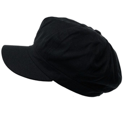SK Hat Shop  - Cotton Plain Panel Newsboy Cap