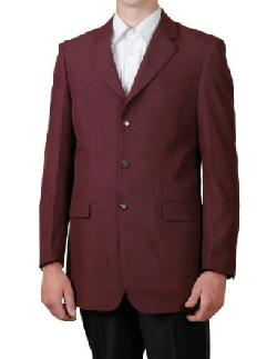 New Era Factory Outlet  - New Mens 3 Button Single Breasted Burgundy / Maroon Blazer Sportcoat Suit Jacket