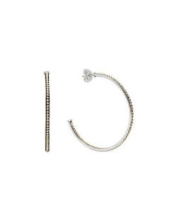 Lagos - Sterling Silver & 18k Enso Hoop Earrings