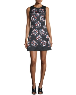 Cynthia Rowley  - Sleeveless Floral-Print Mini Dress