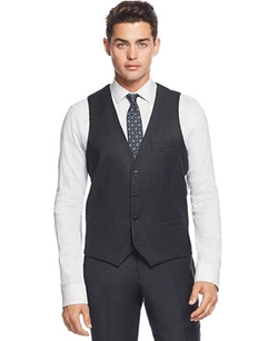 Bar III  - Charcoal Flannel Slim-Fit Vest