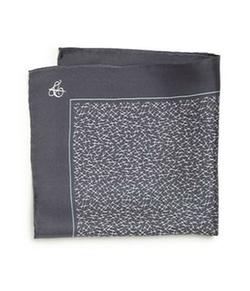 Canali  - Hash-Print Silk Pocket Square