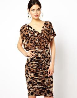 Forever Unique  - Dahne Leopard Print Dress