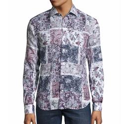 Culturata - Patchwork Paisley & Floral Sport Shirt