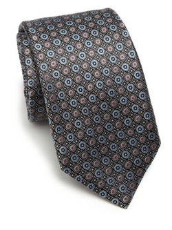 Saks Fifth Avenue Collection  - Circle Silk Tie