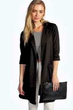 Boohoo - Faye Longline Pocket Duster Coat