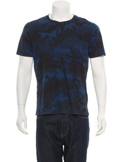 Valentino - Navy Valentino Camouflage Short Sleeve T-Shirt