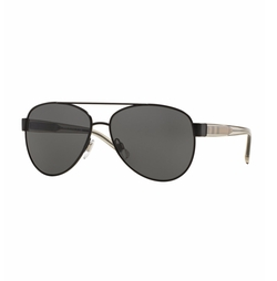 Burberry - Check-Temple Metal Aviator Sunglasses