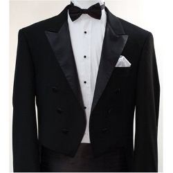 King Formal Wear - Italian Designer Black Tail Tuxedo