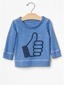 Gap - Thumbs Up Sweatshirt