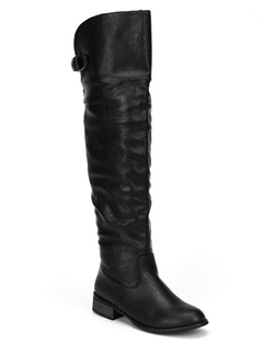 Nature Breeze -  Round Toe Thigh High Riding Boot