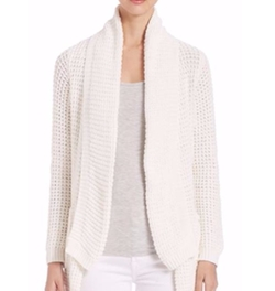 Saks Fifth Avenue Collection  - Manon Waffle Open Cardigan