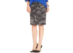 Alfani  - Graphic-Print Pencil Skirt