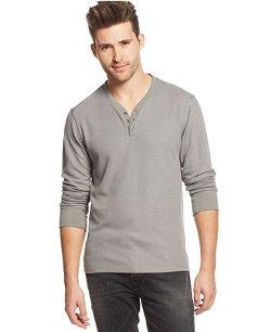 Guess - Jasper Waffle-Knit Henley Shirt