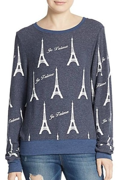 Wildfox  - Je Taime Eiffel Tower Sweatshirt