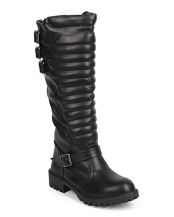 Liliana - Knee High Belted Motorcycle Boot