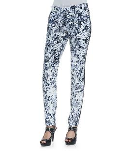 NANETTE LAPORE - Habana Floral-Print Slim Pants