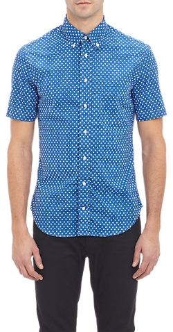 Gitman Vintage - Star-Print Short Sleeve Shirt