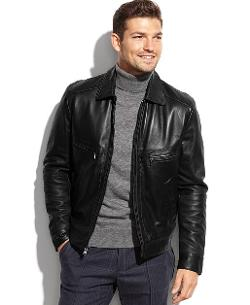 Michael Kors  - Welby Smooth Leather Moto Jacket