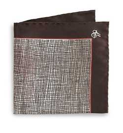 Canali -  Printed Silk Pocket Square