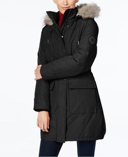 Calvin Klein - Fur Trim Parka Coat