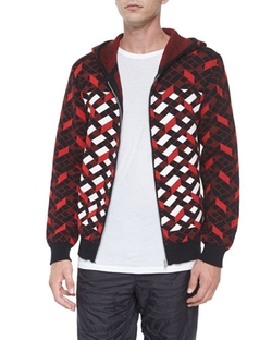 Alexander Wang - Fair Isle Jacquard Stripe Zip Jacket