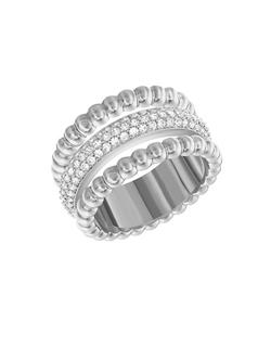 Swarovski - Silvertone Click Ring