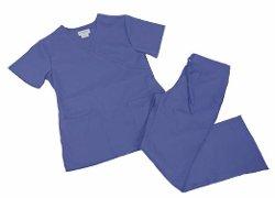 Natural Uniforms  - Women Mock Wrap/Flare Pant Set Medical Scrub Set