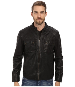 Cole Haan - Washed Lamb Moto Jacket