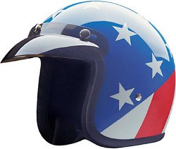 HCI - Captain America Open Face Helmet