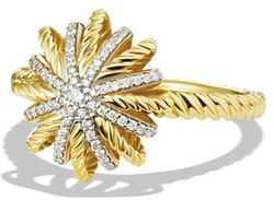 David Yurman - Starburst Ring with Diamonds in Gold