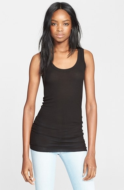 Enza Costa - Ribbed Scoop Neck Tank Top