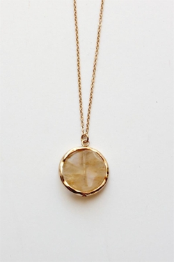 Grassroots - Round Stone Necklace
