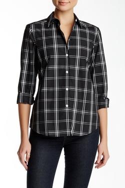Foxcroft - Long Sleeve Shaped Essential Plaid Shirt