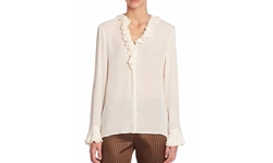 Etro - Silk Ruffle-Neck Blouse