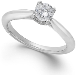 Marchesa - Diamond Solitaire Engagement Ring