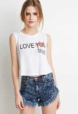 Forever21 - I Love Tacos Muscle Shirt