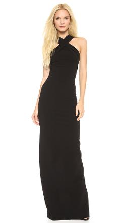 Dsquared2  - Halter Rib Jersey Gown