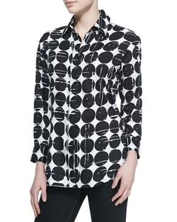 Finley  - Poplin Polka-Dot Print Dress Shirt