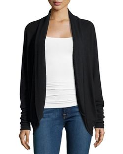 Three Dots  - Long-Sleeve Open-Front Cardigan