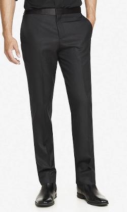 Express - Wool Blend Textured Tuxedo Pants