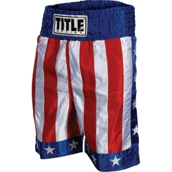 Title - American Flag Boxing Trunks