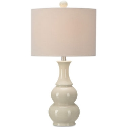 Jcpenney Home - Ivory Crackle Double Gourd Table Lamp