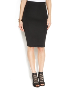 Vince Camuto - Zip-Back Scuba Pencil Skirt