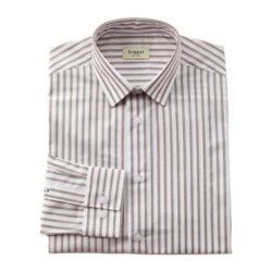 Haggar - Bold Stripe End-On-End Dress Shirt
