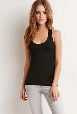 Forever 21 - Ribbed Racerback Tank Top