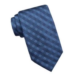 Stafford - Madison Shiny Plaid Silk Tie